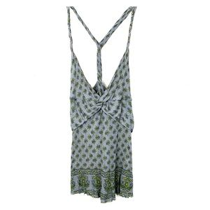 Free People Floral Twist Back Tank Top Tunic Dress